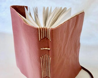 Petite Pink Leather Journal