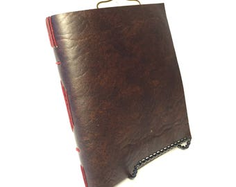 Faux-leather Longstitch Notebook