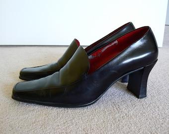 dd411f600a2 Franco Sarto Women s Dress Shoes Black Size 7 Medium UK 5 EU 37.5 Red  Lining 2.75