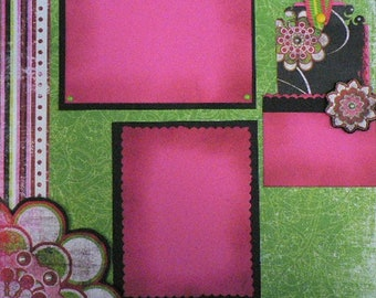 Tranquility 12 x 12 Scrapbook Layout Pattern
