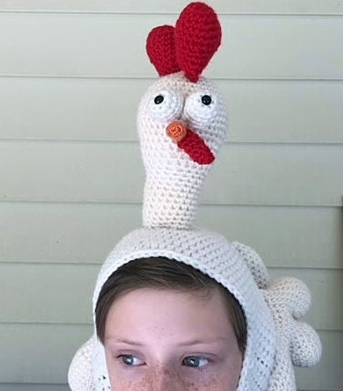 Birdbrain Chicken Hat Crochet Chicken Hat Pattern Etsy
