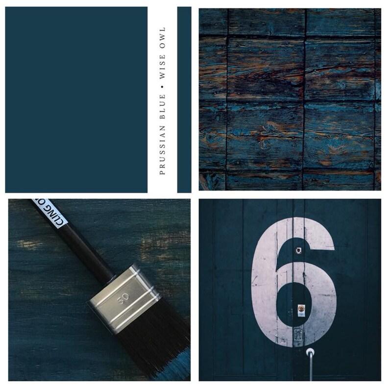 9b1b56dc35 Bleu de Prusse hibou sage peinture édition limitée de couleur image 0 ...