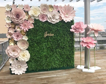 8547dbb3ab99 Large Paper Flower Backdrop   Giant Paper Flowers   Paper Flower Wall    Wedding Wall   Bridal shower  premium flower wall