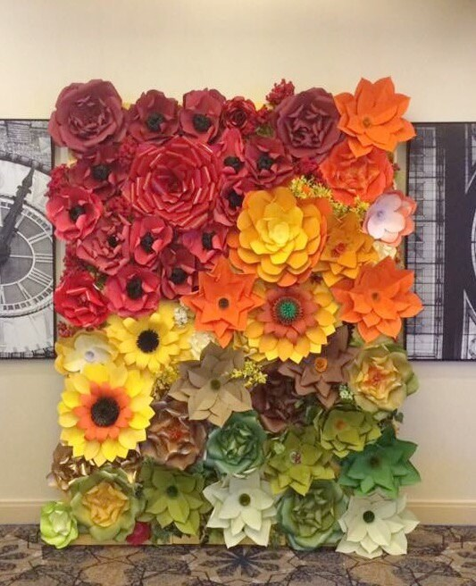 Paper flower backdrop giant paper flowers wall paper flower wall paper flower backdrop giant paper flowers wall paper flower wall wedding wall wedding arch mightylinksfo