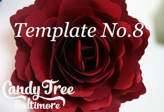Paper Flower Template – Instant Download PDF – Paper Flower PDF – DIY Floral Wedding Décor