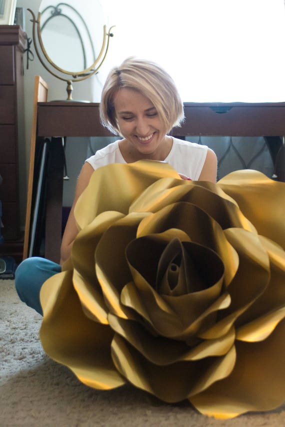 """Large paper flower, Giant paper flower, big paper flower for any occasion ore wall decal """"GINA"""""""