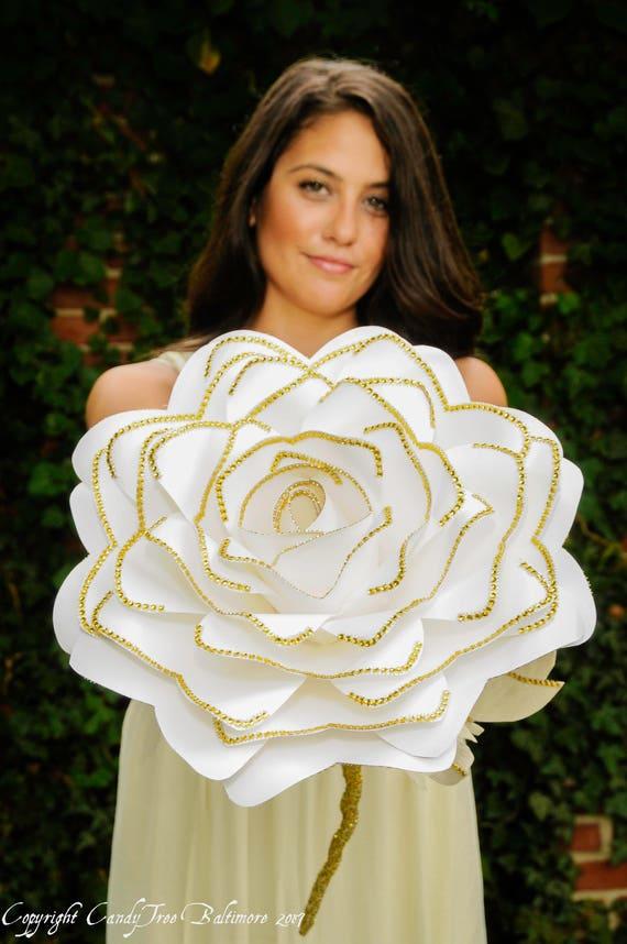 giant paper flower bouquet, bridal bouquet, artificial bouquet, wedding bouquet