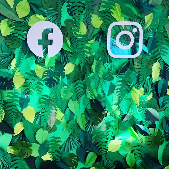 Paper leaves palette, green leaves, leaves cut outs, palm leaves, palm leaf, tropical leaves, tropical leaves wall, leaves backdrop