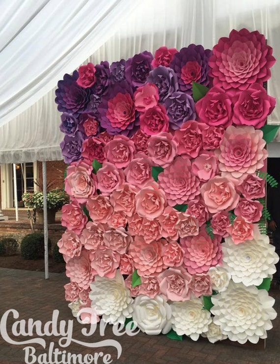 Sweet 16 backdrop / Giant Paper Flowers Wall / Paper Flower Wall /Large paper flowers / Wedding Wall / Wedding Arch