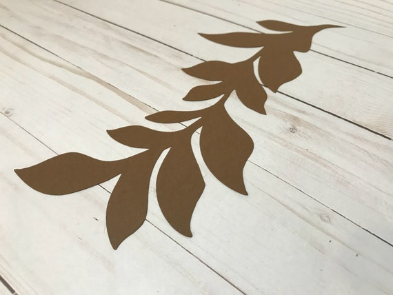 Paper leaves, fern leaves, leaves cut outs, Pack of 5 leaves, palm leaves, palm leaf, tropical leaves