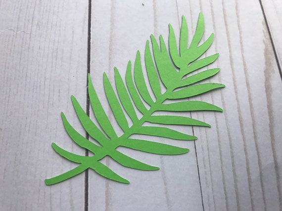 Tropical leaves, green leaves, leaves cut outs, Pack of 5 leaves, palm leaves, palm leaf, paper leaves