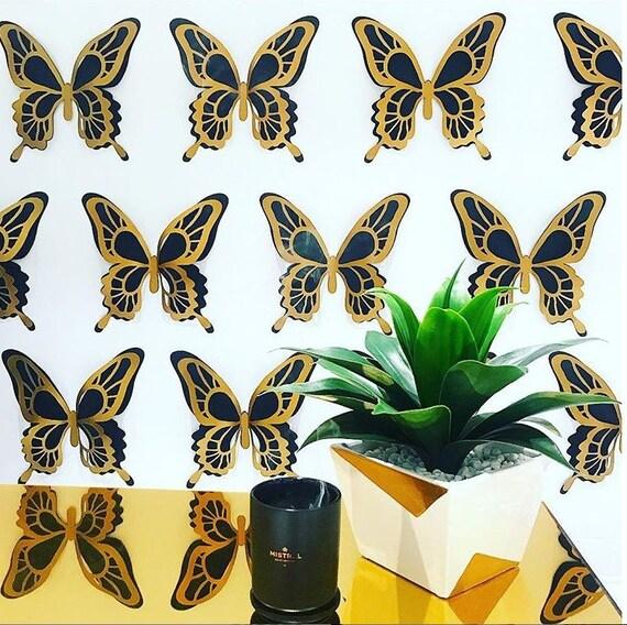 3D Butterfly Wall Art - 3D Wall Butterflies - Paper Wall art - Nursery wall art - 3d Butterflies