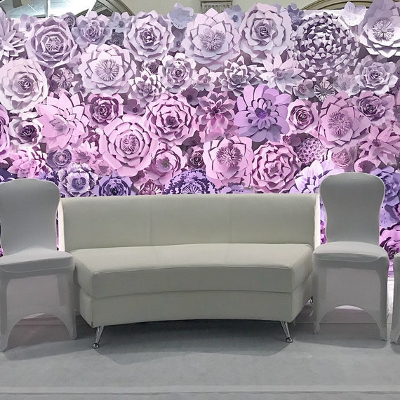 Large Paper Flower Backdrop / Giant Paper Flowers / Paper Flower Wall / Wedding Wall / Bridal shower/ premium flower wall/