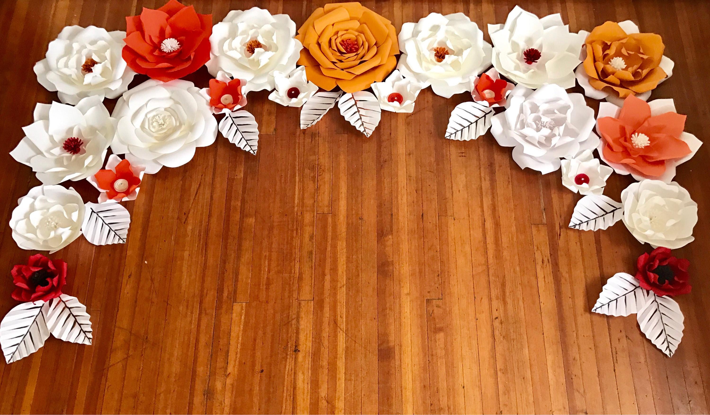 Paper Flower Backdrop Giant Paper Flowers Wall Paper Flower Wall
