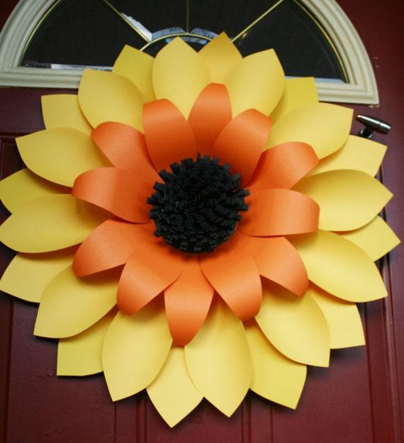 "Front Door Wreaths /Sunflower Wreath /  Autumn Wreaths / Sunflower Wreaths / Fall wreath ""SUNFLOWER"""