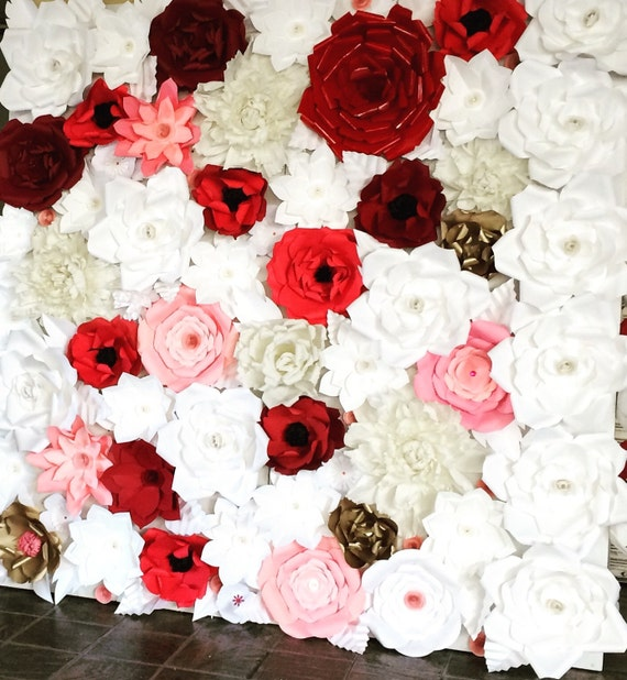 6X8 Paper Flower Backdrop / Giant Paper Flowers Wall / Paper Flower Wall /Large paper flowers / Wedding Wall / Wedding Arch