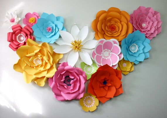 Paper Flower Backdrop / Giant Paper Flowers Wall / Paper Flower Wall /Large paper flowers / Kids birthday wall / Wedding Arch