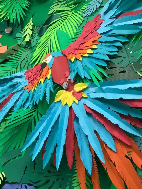 Large paper parrot
