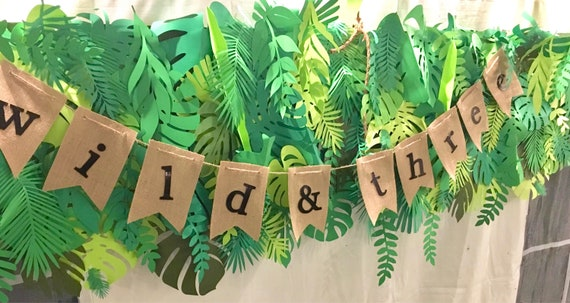 RENT ONLY Paper leaves palette, green leaves, leaves cut outs, palm leaves, palm leaf, tropical leaves - shaded
