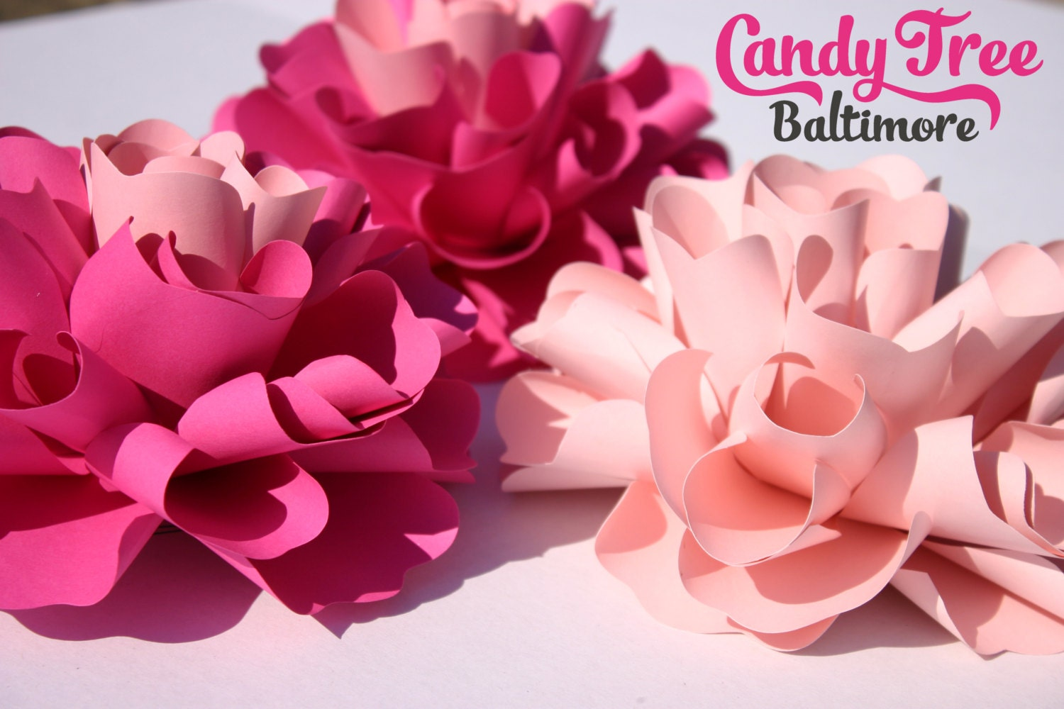 Small Paper Flowers Table Decor Gabrielle