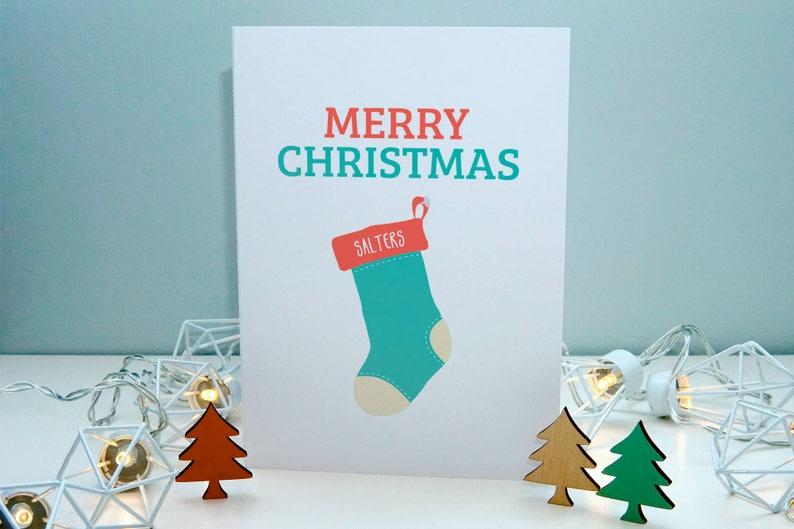 Weihnachtskarten Personalisiert.Personalisierte Weihnachtskarten Personalisierte Weihnachts Strumpf Karte Personalisierte Karte Für Mann 7 X 5 Zoll