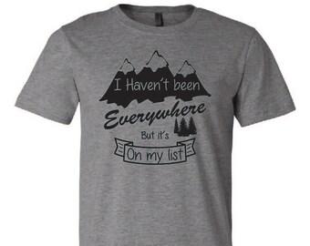 The Mountains Are Calling and I Must Go. Take A Hike. Explore More. Hiking Shirt. Hiking Tee. Hiking Tshirts. Mountain Hiking. Graphic Tee.