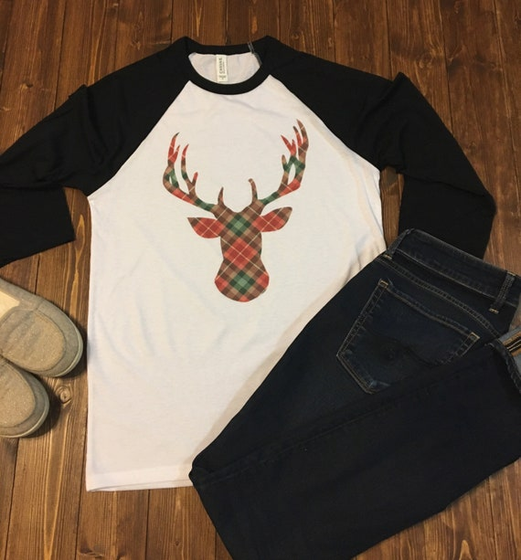 Do It Yourself Christmas Shirts.Christmas Shirts Plaid Deer Shirt Christmas Sweater Plaid Shirt Deer Shirt Holiday Shirts Have Yourself A Merry Christmas Tee