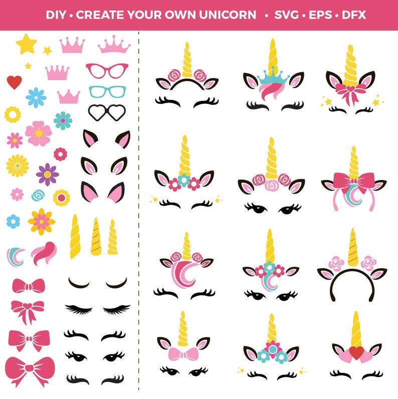 Unicorn SVG  Unicorn Party  Unicorn Instant Download  Unicorn Birthday   First Birthday Ideas  Unicorn Head  Unicorn Flower  Cute Unicorn