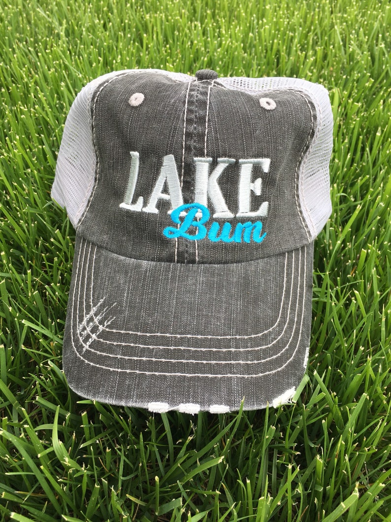 Lake Bum Hat  Hats for Women  Womens Hats  Lake Hair Don't Care  Lake Life   Hats for Her  Lake Hats  Distressed Hat  Distressed Trucker Cap