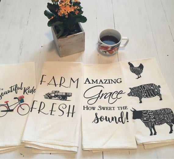 Flour Sack Kitchen Towels.Flour Sack Towels Farmhouse Decor Tea Towel Flour Sack Tea Towel Kitchen Towels Dish Towels Farmhouse Kitchen Christmas Gift Idea