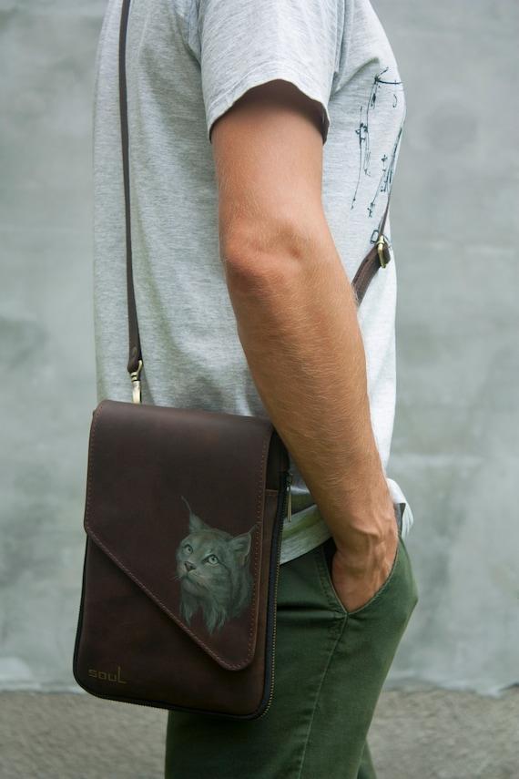 Crossbody Shoulder Beautiful Lynx Snow Leather Sling Bag /& Women/'s Handbag