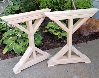 Trestle legs etsy farmhouse x frame table legs wood table legs trestle table legs watchthetrailerfo