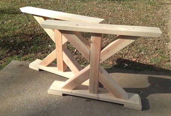 Charmant Farmhouse Trestle Table Legs X Frame Table Legs Wood Table | Etsy