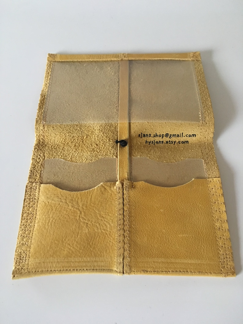 Residual leather car paper Pouch