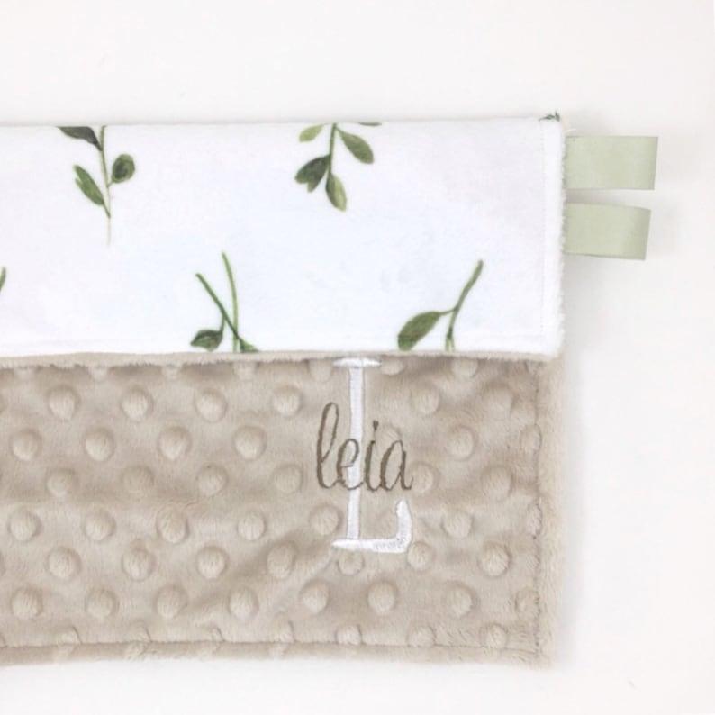 NEW FLOWERS Security Blanket Taggies Style Lovey Baby Blanket