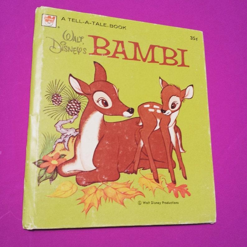 Bambi Walt Disney Book Animated Cartoon Movie Film Motion Etsy
