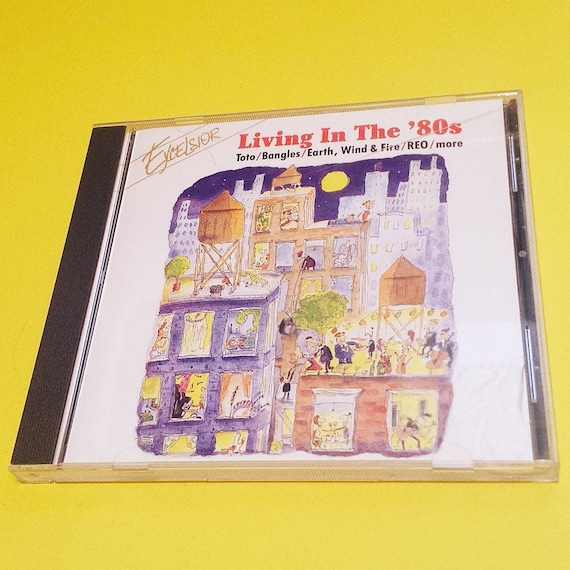 LIVING IN THE 80s Cd Compact Disc Compilation Variety Rock