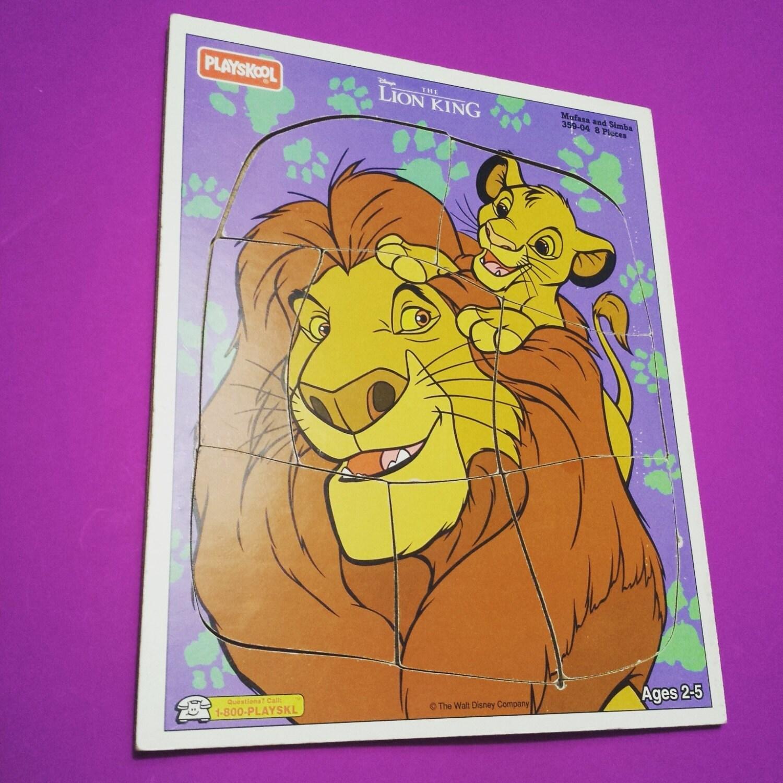 The Lion King Mufasa Simba Walt Disney jigsaw puzzle game toy | Etsy