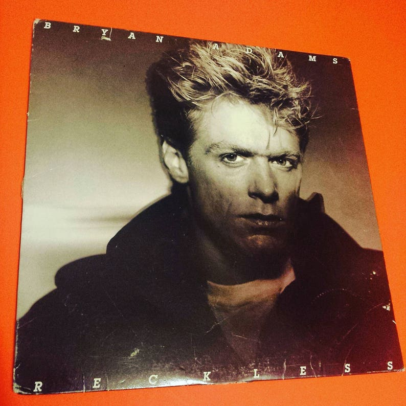 BRYAN ADAMS Reckless - vinyl record album Summer Of '69 rock and roll post  punk new wave band vintage retro '80s 80's 80s eighties 90s '90s