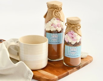 Decadent HOT CHOCOLATE Mix. Drink mix in a bottle, Baking mix, sweet treat or gift. DIY Hot Choc. Makes 2 or 4 rich chocolaty mugs!