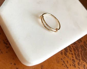 Gold Adjustable Knot Ring