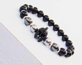 Mens Bracelet, Gift for Men, Bracelet for Men, Helmet Bracelet, Black Friday Sale, Helmet Jewelry, Warrior Bracelet, Mens Spartan Bracelet