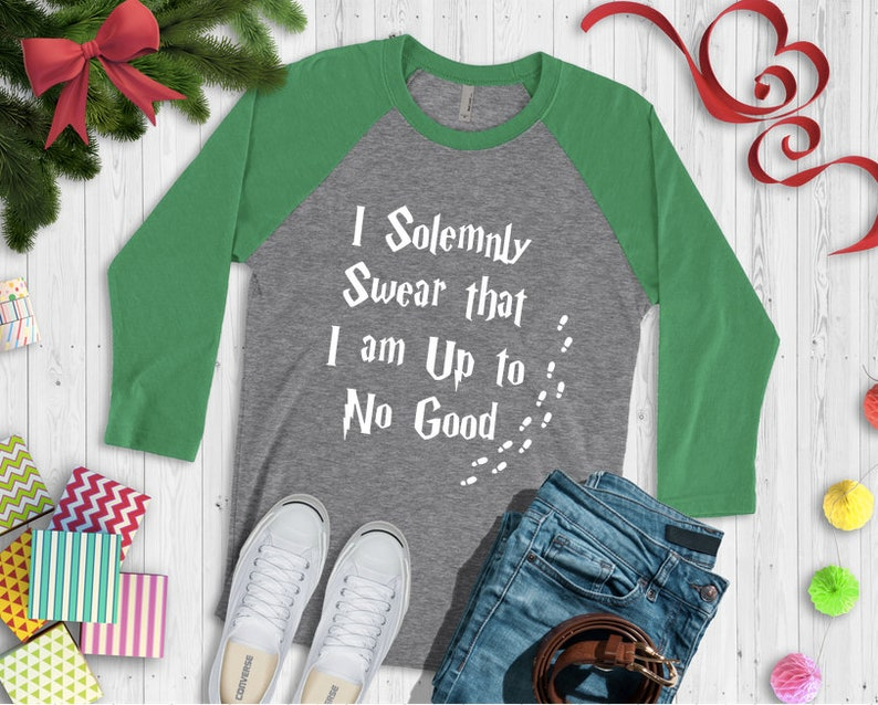 6be6c6751 Harry Potter Inspired I Solemnly Swear I Am Up to No Good | Etsy