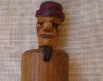Antique Folk Art Carved Pop Up Toy Adult Themed-Kobe ?-1900's