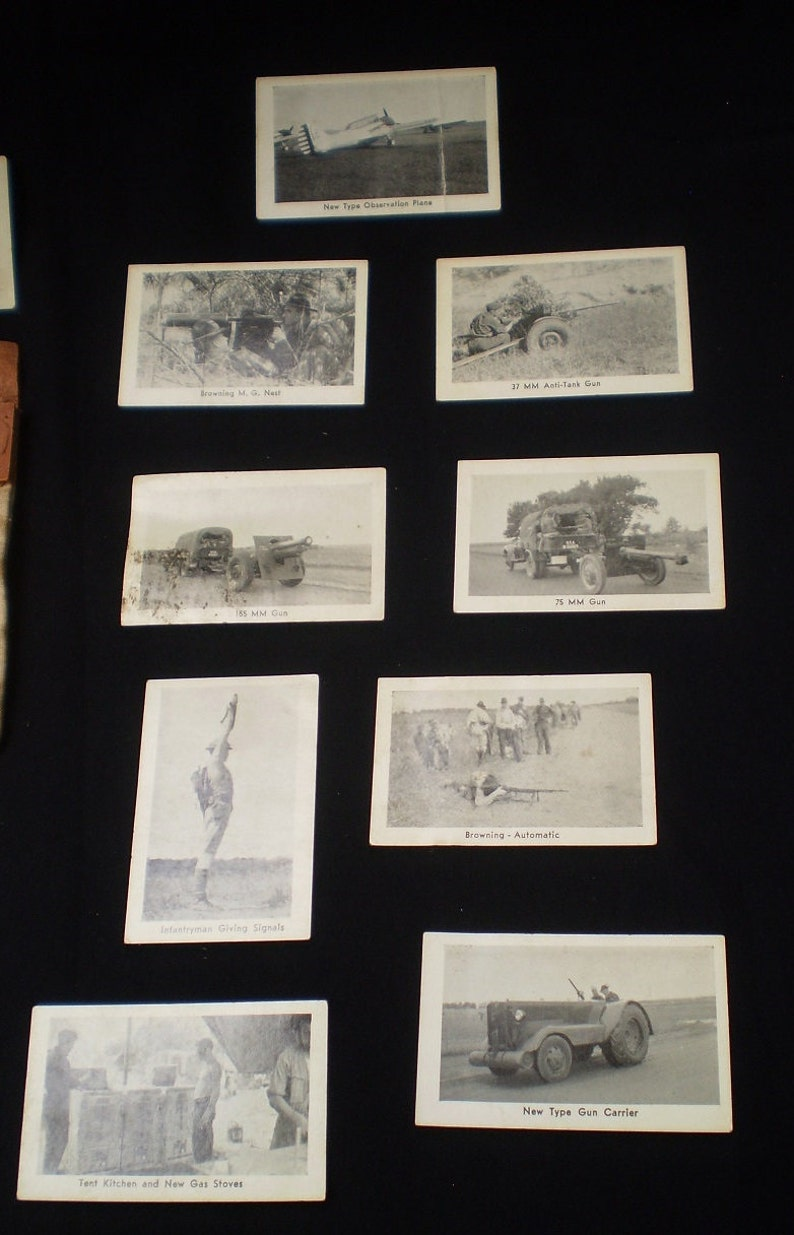 Antique WWII Camp Shelby Mississippi Real Photo Cards in Souvenir  Pouch-1940's