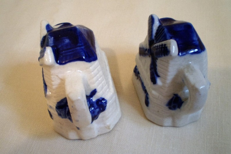 Antique Rare Cobalt Blue Salt and Pepper Shakers-Made in Occupied Japan-1930/'s