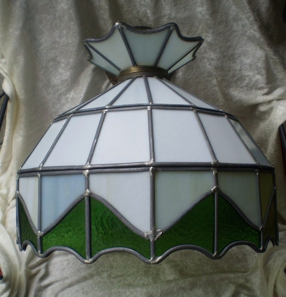 Vintage Stain Glass Hanging Lamp 1970 S On Sale