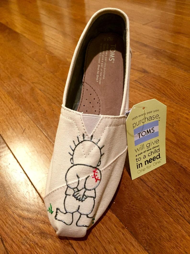 f6086d83fd0 Handala hand-painted shoe