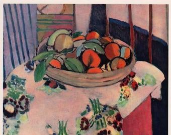 Henri Matisse 1939 LITHOGRAPH w/COA. Naranja Oranges. Unique 1930s Henri Matisse Art.  Extremely Rare Art. Free Shipping