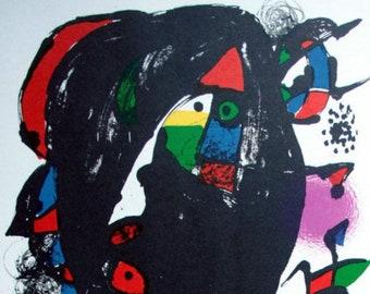 Joan Miró Original Lithograph 1981 Mourlot 1259 Litógrafo 4 Unique Gift,  Exclusive Present, Limited Edition RARE ART Free Shipping